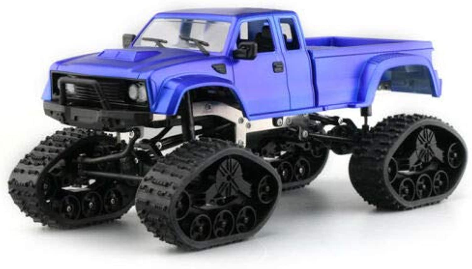 FidgetKute Fayee FY002B 1 16 2.4G 4WD OffRoad RC Car Military Truck with Front Light Cobalt bluee