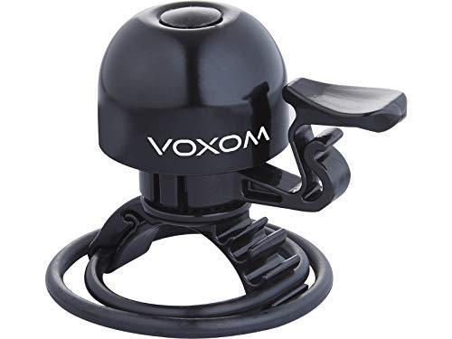 Voxom Klingel KL15 für 22, 2-31, 8mm Lenker, O-Ring Befestigung, Messing, schwarz, 718000221 Klingeln & Hupen, Gold, 90g