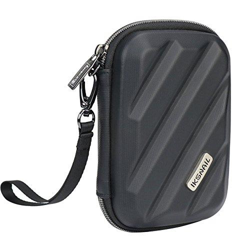 Iksnail Elektronik-Organizer-Reisetasche, Hard Gadget Zubehör Aufbewahrungstasche Tragetasche für USB-Kabel, SD-Karte, USB-Laufwerk, Festplatte, Telefon, Ladegerät, Kopfhörer, Schwarz