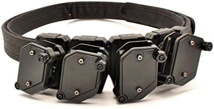 XFC-DANJIA, For IPSC USPSA IDPA Competición Disparo a Alta Velocidad for cinturón con 4 X Pistola de Velocidad de ángulo múltiple Revista Estuche Funda magnética (Color : Negro)