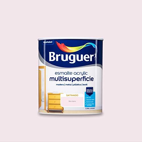 Bruguer Acrylic Multisuperficie Esmalte al agua Satinado Lila Claro 750 ml