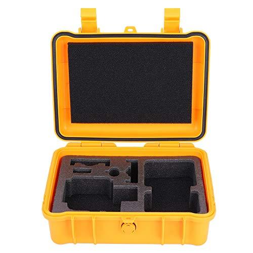 Draagtas voor actiecamera, beschermhoes voor buiten, draagbare plastic waterdichte opslaghouder, koffer voor Actioncam (geel)