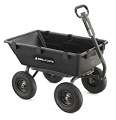 """Your purchase includes One Gorilla Cart GOR6PS Dump Cart Cart dimensions: 44"""" L x 25.7"""" W x 26.2"""" H 