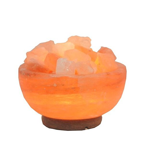 LAMARE - Lampada di sale dell'Himalaya, ciotola grande