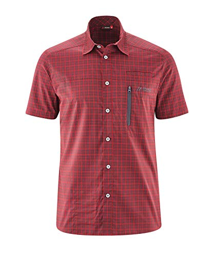 Maier Sports Mats S/S Chemise Fonctionnelle pour Homme XS Red/Grey Check