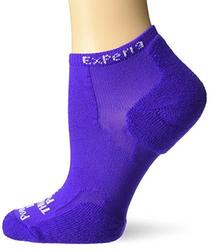 Thorlos Experia XCCU Calcetines para correr, Eléctrica Púrpura, M Unisex Adulto