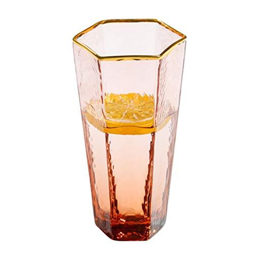 WxberG Juego de 2 vasos geométricos transparentes para beber, vaso de licor, vaso único de 12 onzas para zumo, whisky, whisky, bourbon (color: 300 ml)