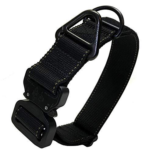Miles Tactical K9 Cobra Hundehalsband mit Kontrollgriff und AustriAlpin Schnalle