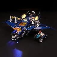 BRIKSMAX Led Lighting Kit for LEGO Marvel Avengers Ultimate Quinjet Plane-Compatible with Lego 76126...