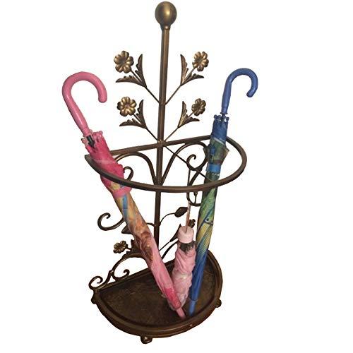 portaombrelli Classico Bronzo e Oro ad Asciugatura Rapida con Design a Vortice Foglia, Porta Bastoncini da Passeggio (Color : Bronze)