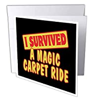 Dooni Designs Survive Sayings – I Survived a Magic Carpet Ride Survival Pride andユーモアデザイン – グリーティングカード Individual Greeting Card