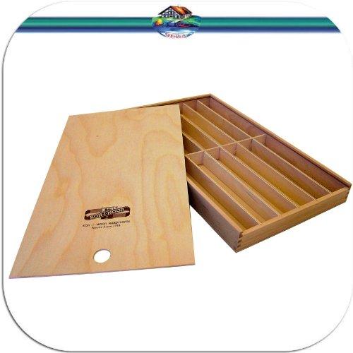 Holzbox KOH-I-NOOR Holzschiebebox für Stifte Pinsel Bleistifte etc. Stiftebox Aufbewahrungsbox Pinselbox Stifteköcher