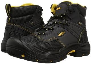 Keen Utility(キーン) メンズ 男性用 シューズ 靴 ブーツ 安全靴 ワーカーブーツ Logandale Waterproof Steel Toe - Raven/Black [並行輸入品]