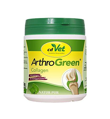 cdVet Naturprodukte ArthroGreen Collagen 300 g - Hund - Katze - Nährstoffversorgung der Gelenke - Stärkung - Widerstandsfähigkeit - verbesserte Gelenkfunktionen - Bewegungsfreude - Lebensqualität -