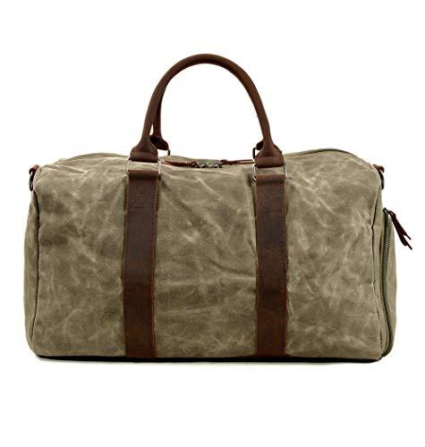 Bolsa de Viaje de Alta Capacidad Bolsa de Gimnasia con Compartimento para Zapatos y Bolsa de Lona Impermeable y Duradera Seca y Húmeda Separada Bolsa de Mano Unisex,Green