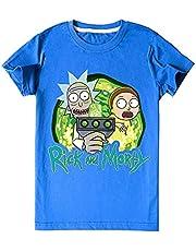 EA-SDN Rick and Morty 3D Sonic The Hedgeho Cartoon T-shirt, puur katoenen shirt, geschikt voor jongens en meisjes