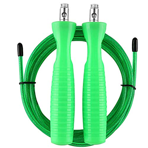 Keepmove Jump Rope Fitness Skipping Rope Portable Durable and Easy Adjust Advanced Skipping Green