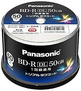 Panasonic 録画用2倍速ブルーレイディスク 50GB(追記型)スピンドル50枚 LM-BRS50P50S