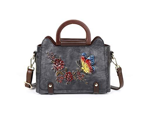 La nueva serie en relieve de los bolsos de la flor del amor de la mariposa con un solo hombro en diagonal, en la parte superior, en relieve de cuero, adecuado para ir de compras, ir de compras