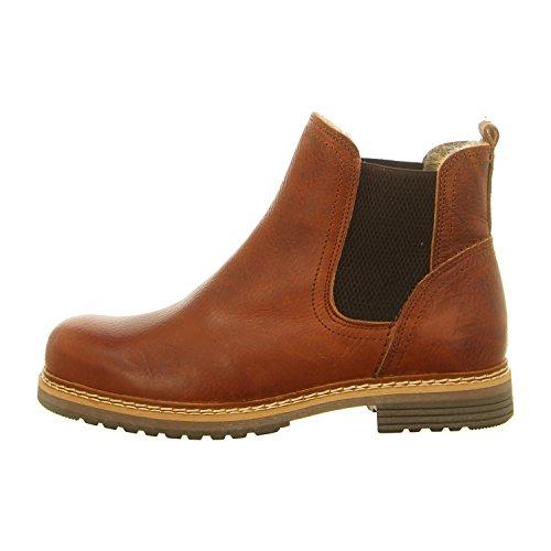 BULLBOXER Damen Chelsea Boots 049M45402,Frauen Stiefel,Halbstiefel,Stiefelette,Bootie,Schlupfstiefel,flach,Cognac,EU 36