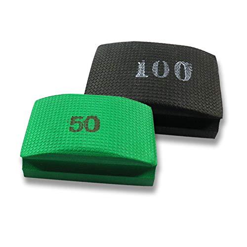 Originele EDW basisset | handschuurpads/schuursponzen | korrelgroottes 50,100 | Voor het slijpen, polijsten en ontbramen van tegels, natuursteen, graniet, kunststeen, glasranden | reiniging