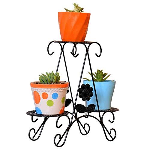 Support de fleur Art de fer Cadre à fleurs à 2 niveaux Moderne Simple Créatif Découper Main Découper Intérieur et Extérieur Balcon Jardin Salon