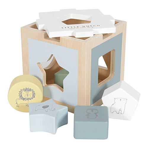 Little Dutch Holz Formen-Steck-Spiel Zoo, Mehrfarbig, 13,7 x 13,7 x 13,7 cm...