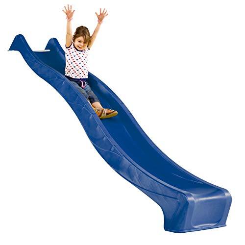 Gartenwelt Riegelsberger Wellenrutsche Rutsche 300 cm blau Anbaurutsche für Podesthöhe 150 cm für Spielturm oder Schaukel