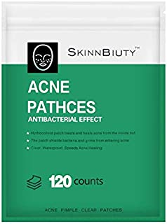 Acne Pimple Healing Patch - Absorbing Hydrocolloid Blemish Spot Skin Treatment,Facial Stickers(120ROUND PATCHES)