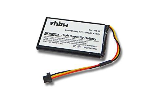 vhbw Batería Recargable Compatible con Tomtom GO 50, 60 navegador (1200 mAh, 3,7 V, Li-Ion)