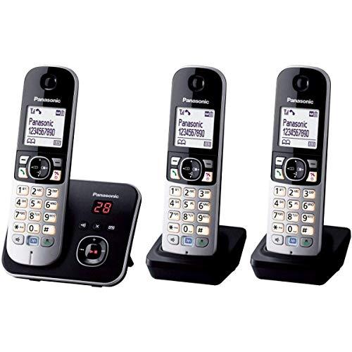 Panasonic KX-TG6823 - Telefoni cordless con segreteria telefonica e schermo [Versione Francese]