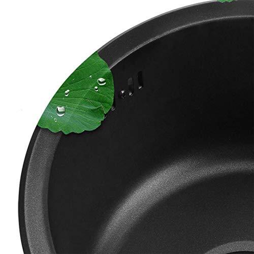 Nano fregadero no es fácil de manchar, resistente al desgaste y a los ara?azos, fregadero redondo grande con gran capacidad, adecuado para cocina, ba?o, hotel
