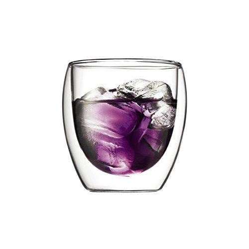 Bodum Pavina 2Stück Glas, doppelwandig, klein–0,25l, 8oz (Pack von 2)