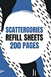 Scattergories Refill Sheets 200 Pages: Paper Sheets for Playing Scattergories   Score Game Record Book   Keep track your game