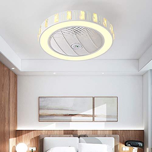 XDDRL Deckenventilator casa Fan kreative Moderne LED Dimmbar deckenventilator mit Beleuchtung und Fernbedienung leise Ultra-leise energiesparend Schlafzimmer Zimmerlampe