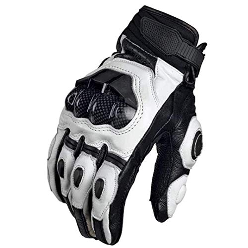 XinC Leather Motorbike Motorcycle Gloves, Leather Protection All Season Motorcycle Racing Glove, for...