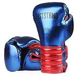 Lsdnlx Guantes de Boxeo,Color Metal Niños/Audlts Mujeres Hombres Guantes de Boxeo para Entrenamiento de Saco de Arena Muay