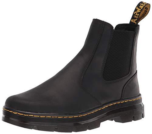 Dr. Martens unisex adult Chelsea Boot, Black Wyoming, 10 Women 9 Men US