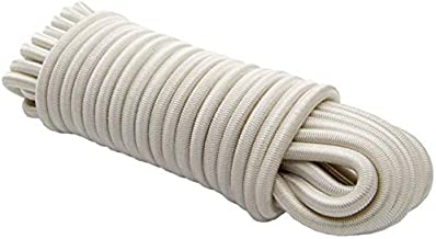 20 m expandertouw 6 mm wit rubberen touw dekzeil spankabel elast. zeildoek.