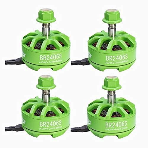 Accessori per droni Ytn 2406 Br2406S per Fire Green Edition 2600Kv 2-4S Motore Senza spazzole per X220 250280300 Racing Drone Rc Racer 4 in 1 Esc - (Colore: 4 Pezzi Rosso)