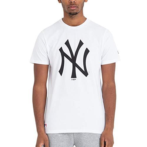 New Era Męski Team Logo New York Yankees T-shirt męski T-shirt biały biały XXL