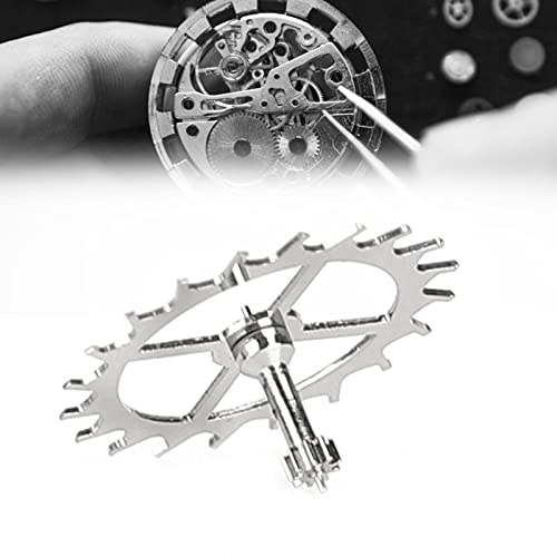 YUYTE 2824 Rueda de Escape de Relojería, Accesorios de Relojería Pieza de Repuesto de Reparación de Reloj, Herramientas de Reparación de Reloj Puntero Reloj de Pared Reemplazo Aficionado