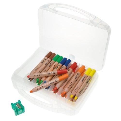 Buntstifte Farbstifte edu³ FIRST Box mit 36 Stiften + 3 Spitzer