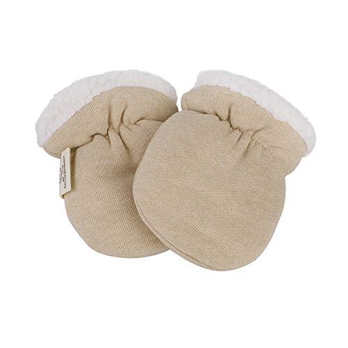 Muffole unisex per neonati e bambini invernali, antigraffio, guanti termici caldi in cashmere, 0 – 6 mesi