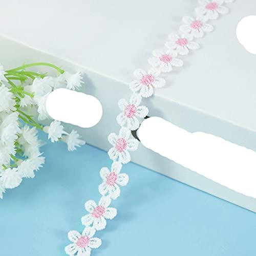 5 yarde 14mm fiore colorato ricamato pizzo trim margherita nastri tessuto cucito a mano accessori per l'abbigliamento decorazione di nozze-B08