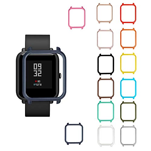 Parasonou 14x Silicone Watch Frame Compatible with Huami Amazfit Bip Youth Watch Smart Watch Case Cover Protector