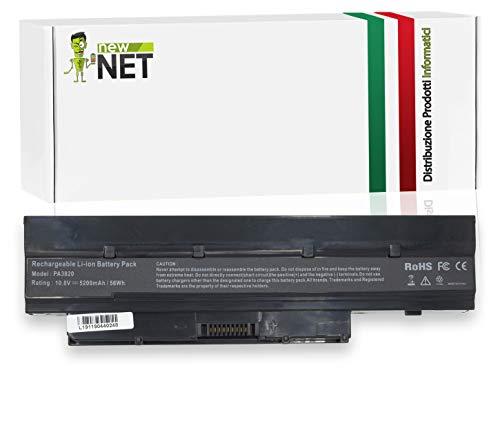 New Net PA3820U-1BRS - Batería para portátil Toshiba Satellite PA3821U-1BRS, PABAS231, PABAS232, PA3820, T210D, T215D, T230, T235 y T235D (5200 mAh)