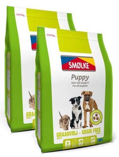 2x 12 KG Smolke puppy graanvrij hondenvoer