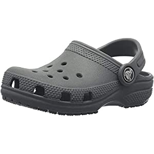 Crocs unisex child Classic | Slip on Shoes for Boys and Girls Water Shoes Clog, Slate Grey, 8 Toddler US