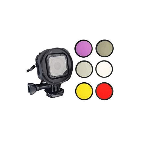 Filtre de lentille ND2 6 en 1 de 58 mm Filtre de lentille UV Filtre Rouge Filtre FLD Filtre Jaune Filtre CPL Filtre